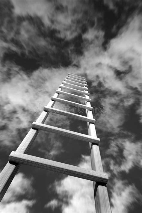 Skyward Stairway stock image. Image of silky, exposure
