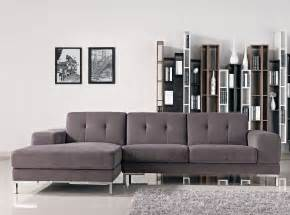 Gray Sectional Sofa Forli L Shape Gray Fabric Sectional Sofa