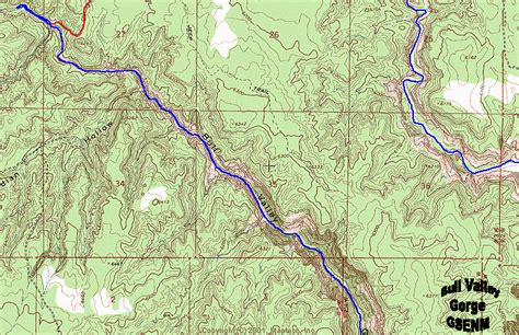 bull valley gorge map grand staircase escalante national