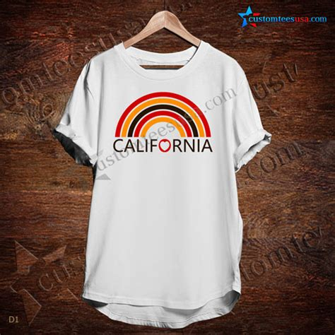 California Custom Kaos Unisex california rainbow quote t shirt unisex size s 3xl