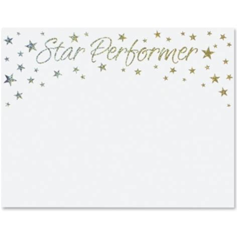 star performer specialty certificates paper direct