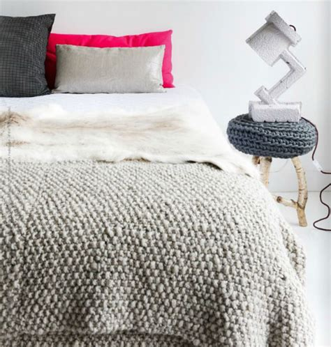 textured comforter 25 knitted decor ideas for your soon to be snuggly home