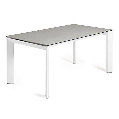 steel esszimmertisch table extensible en c 233 ramique verre et m 233 tal de design vinata