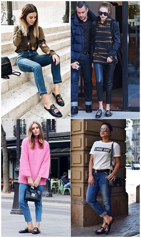 celebrity women wearing loafers celebrities style bloggers and igers wearing black gucci