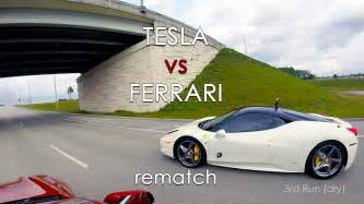 Electric Car Faster Than Tesla What Happens When A Tesla Model S P85d Races A