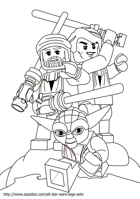 Lego Coloring Pages Star Wars To Print | lego star wars luke skywalker coloring page free printable