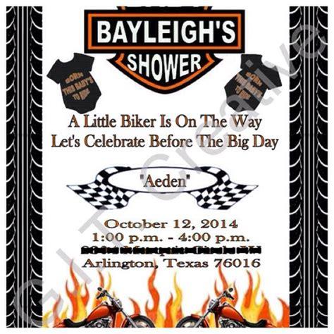 Harley Davidson Invitations harley davidson motorcycle baby shower invitation
