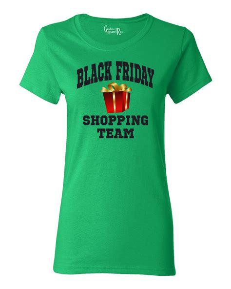 T Shirt Shopping Black Friday Shopping Team Womens T Shirt Top Ebay