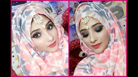 tutorial makeup simple hijab easy eid makeup tutorial for girls black coral makeup