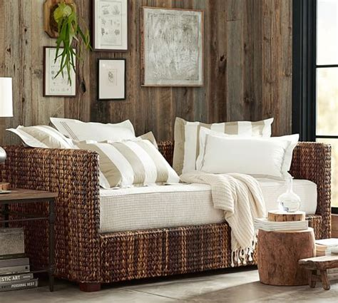 Pottery Barn Daybed Seagrass Daybed With Trundle Pottery Barn