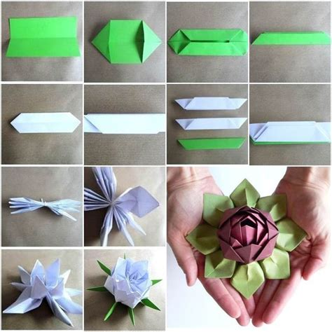 lotus flower paper craft origami lotus flower