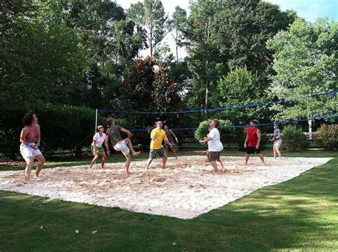 backyard volleyball backyard volleyball pit patio pinterest