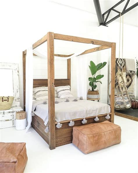 Wooden Post Bed Frames Best 25 4 Post Bed Ideas On Style Canopy Beds 4 Curtains One Window And