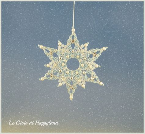 pattern macrame snowflake macrame snowflake by happyland87 on etsy