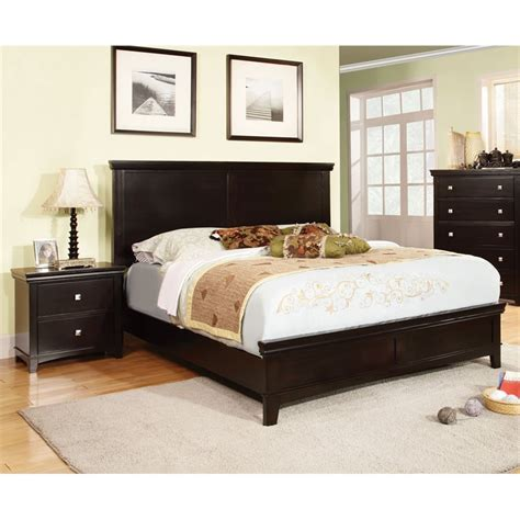 espresso king bedroom set furniture of america fanquite 2 piece king bedroom set in