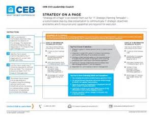 It Support Strategy Template by It Strategy Ceb