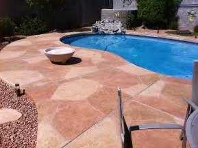 Floors And Decors Flagstone Pool Deck Coatings And Repair Az Creative