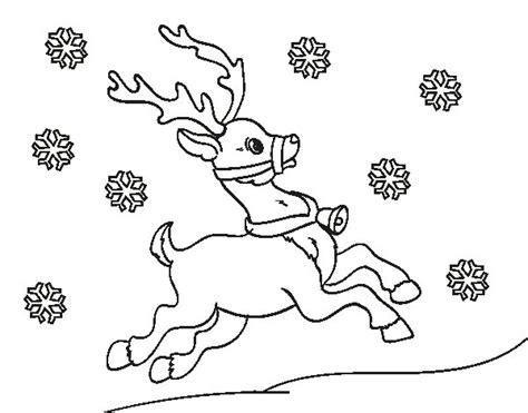 imagenes de navidad sin colorear dibujo de reno de navidad para colorear dibujos net