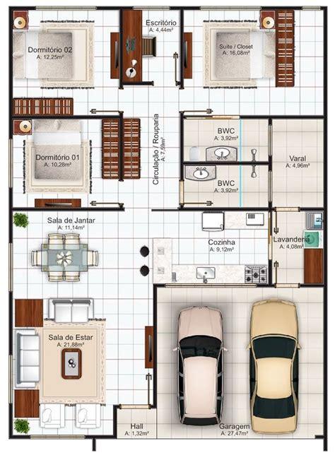 plano de casa de un piso 005jpg plano de casa de 144 m2 pinteres