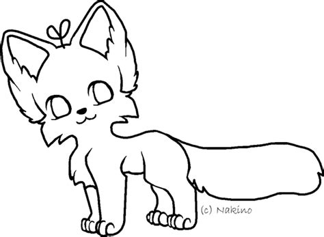 fursona lineart template by nakino on deviantart
