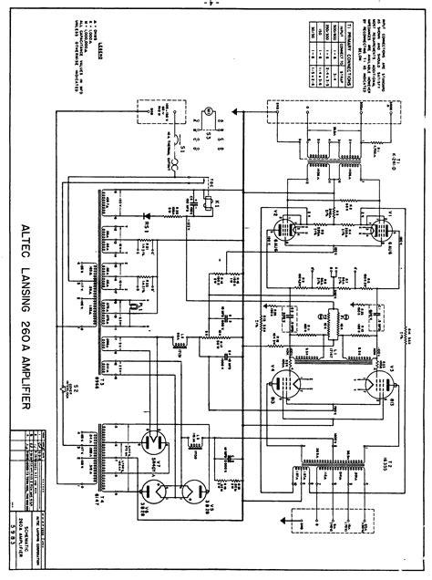 Triode Electronics Altec Lansing Schematic Amp Literature