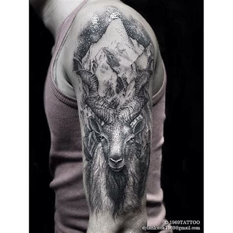 mountain goat tattoo best tattoo ideas gallery