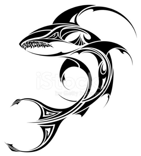 shark tattoo designs free shark tribal design stock vector freeimages