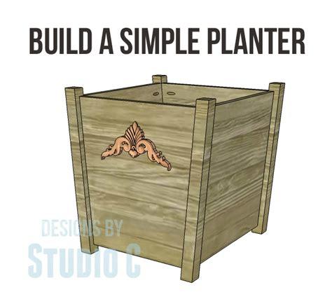 how to build a planter diy planter boxes