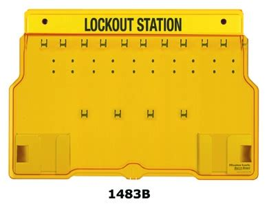 Masterlock 1482b Lockout Station 1483b master lock unfilled 10 lock lockout station