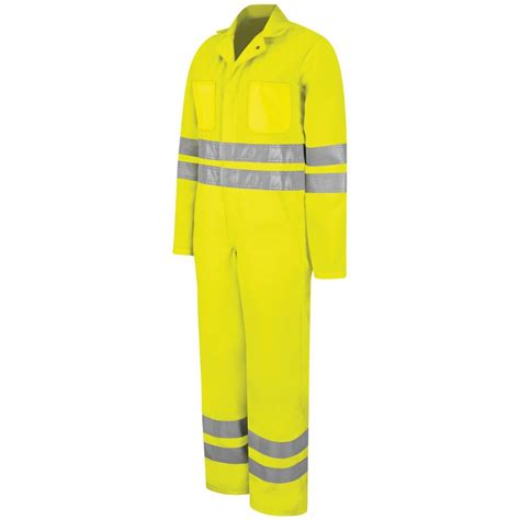 Gaia Color 107 Fluorescent Yellow Green ct10hvb fluorescent yellow green hi visibility zip front coverall