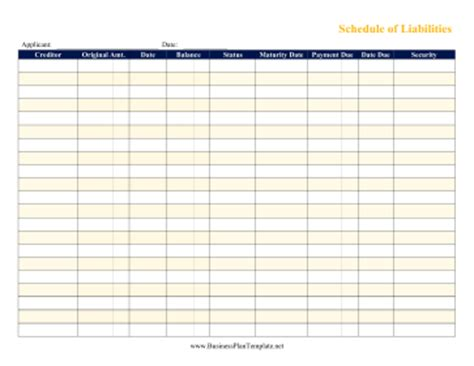 football draft board template schedule of liabilities