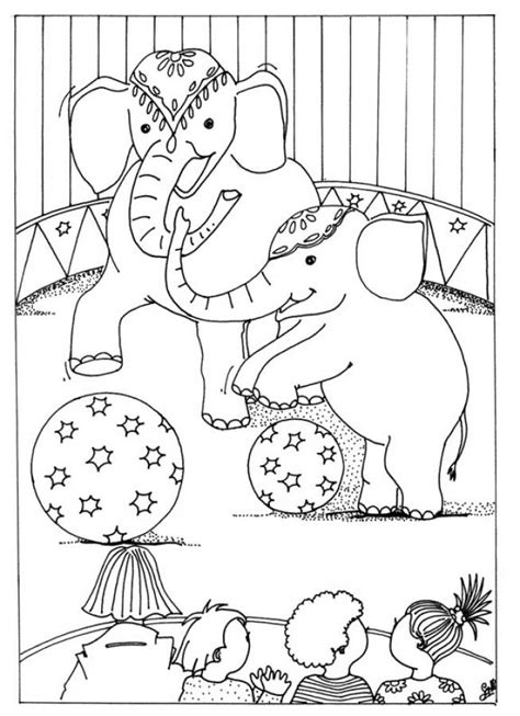 coloring pages of circus animals free printable circus coloring pages for kids
