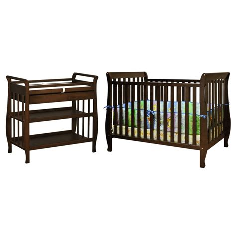 4 In 1 Crib With Changing Table Athena 4 In 1 Convertible Crib With Changing Table In Espresso 009e 3353e