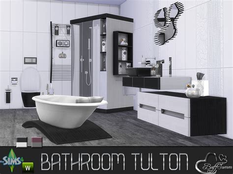 sims 4 set cc buffsumm s tulton bathroom recolor set 1