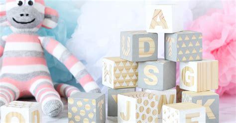 baby crafts diy wooden baby blocks babyshower craft diy sweet