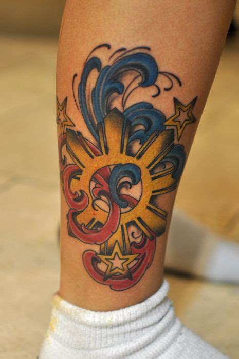 filipino star tattoo sun tattoos