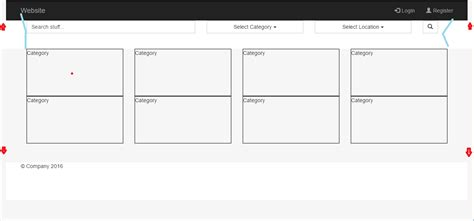 bootstrap ul layout bootstrap layout creates weird padding and alignment css