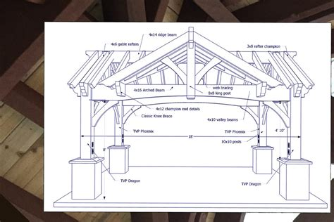 timber frame design details gorgeous triple gabled diy pavilion western timber frame
