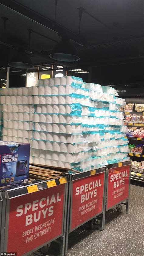 aldi store  forced  stash mountains  toilet paper  flour   special buys section
