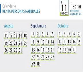 dian calendario personas naturales 2015 inician vencimientos para declarar impuesto sobre la renta