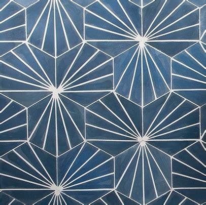 Cement Tiles   Electra Ultra Marine Bone   Cement Hexagon Tile
