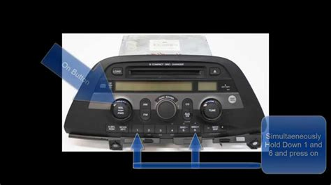honda civic 2007 radio code unlock honda odyssey radio code reset unlock no call to dealer