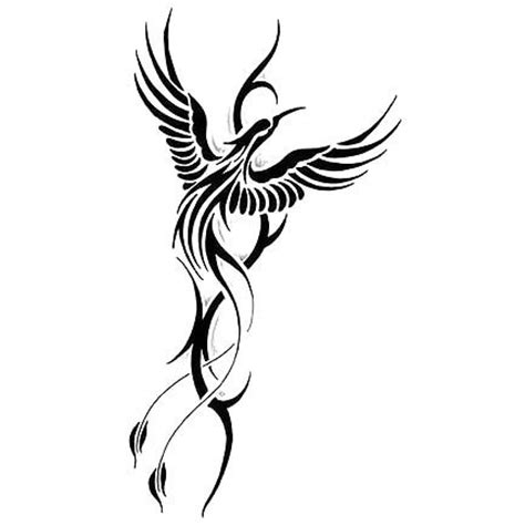 cool tribal phoenix tattoo design