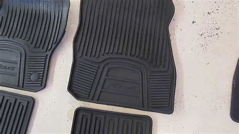 ford focus floor mat comparisons stock stock all weather