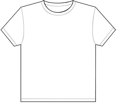 Drawing T Shirt Outline by Shirt Template Doliquid