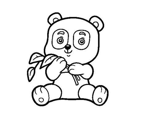 imagenes para pintar oso dibujo de un oso panda para colorear dibujos net