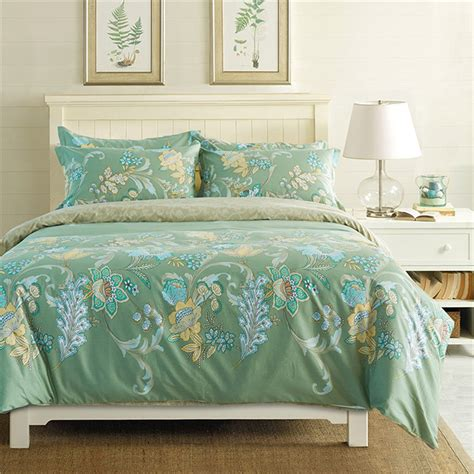 green full size comforter sets green floral bedding sets full queen size bed 4 pcs