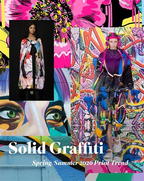 springsummer  print pattern trend solid graffiti