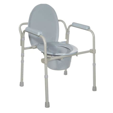 Folding Steel Commode by Folding Steel Commode Rainbow Supply