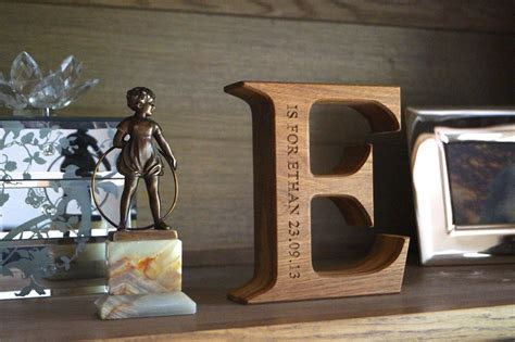 Handcrafted Uk - engraved wooden alphabet letters makemesomethingspecial